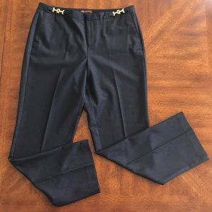 Dana Buchman dark denim color flare trousers NWOT